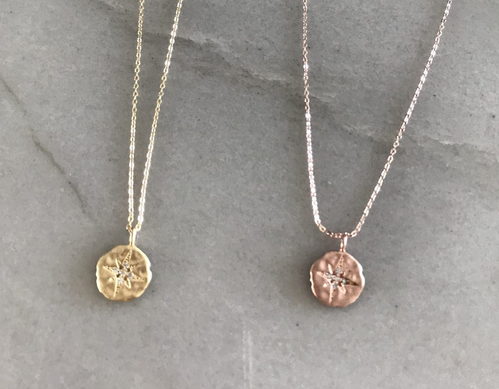 gold plated necklaces starburst