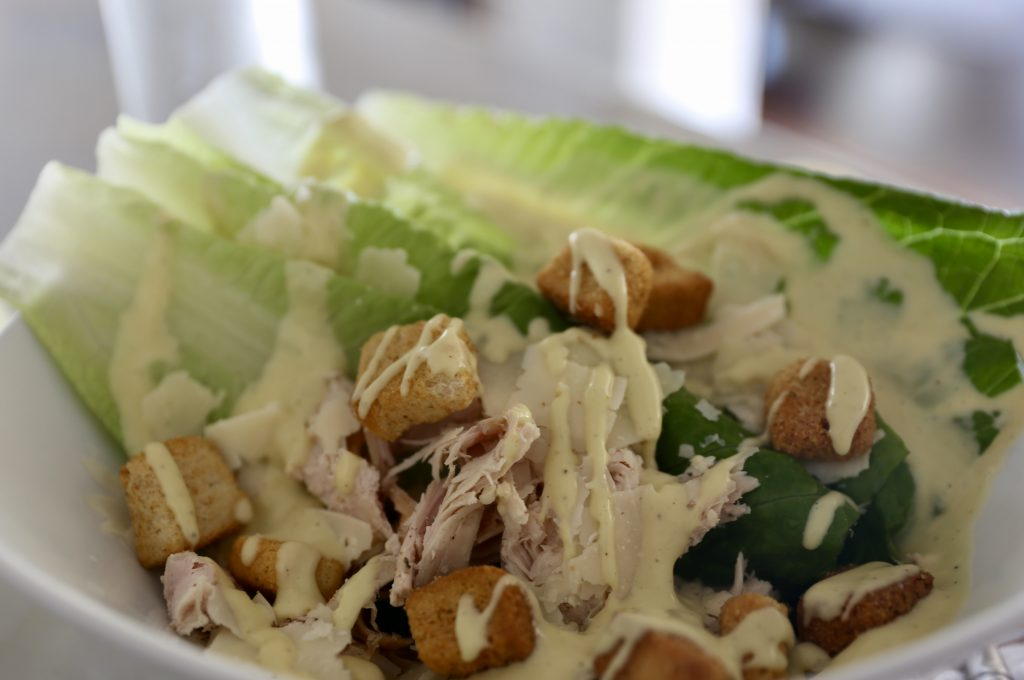 Caesar salad finished
